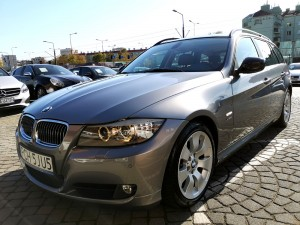 BMW 320d XDrive Automat Touring 2009r E91 Lifting Skóra Panorama Navi Angel Eyes